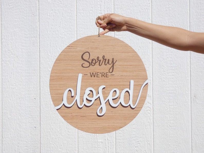 Unique Open Closed Sign Business Open Sign Business Etsy Open Closed Signs Business Signs Open Signs