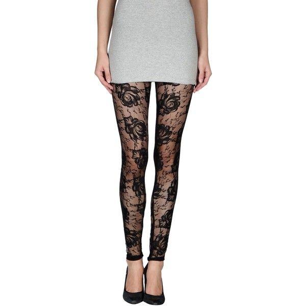 Lna Leggings ($53) ❤ liked on Polyvore featuring pants, leggings, bottoms, black, legging pants, elastic waistband pants, lace leggings, lace pants and jersey leggings