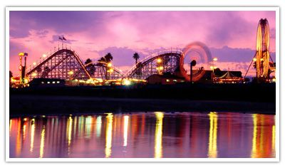 Santa Cruz, CA Boardwalk ... I went on vacation here at least 3 times as a kid. LOVED IT.