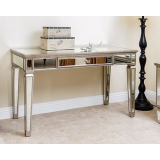 ABBYSON LIVING Sylvia Mirrored Desk   Overstock.com Shopping   The Best  Deals On Coffee