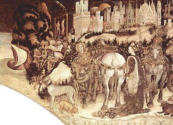 Pisanello - San Jorge y la princesa (c. 1436-1438), Iglesia de Santa Anastasia (Verona).