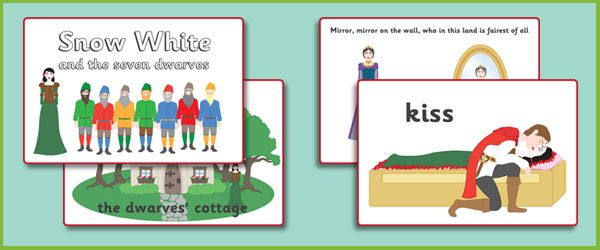 Snow White Story Sequencing Cards- Kiley sequencing story cards for