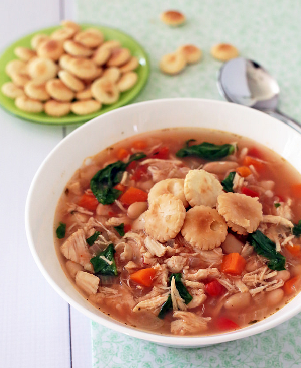 Slow Cooker Tuscan Chicken Soup | AllFreeSlowCookerRecipes.com