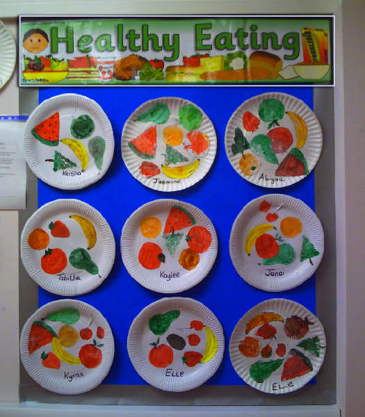 Healthy eating classroom display photo sparklebox for Food crafts for preschoolers