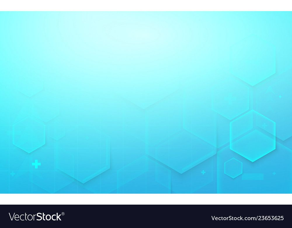 Abstract Digital Hi Tech Hexagons Background Vector Image