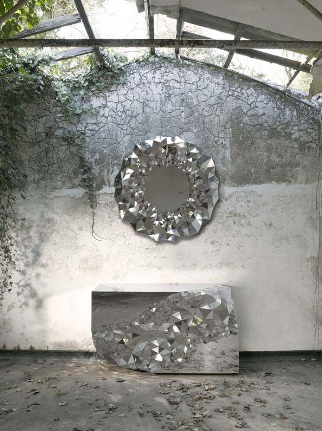 Konsolentisch Spiegelglas.Spiegel Rund Stellar Konsolentisch Design Von Jake Phipps