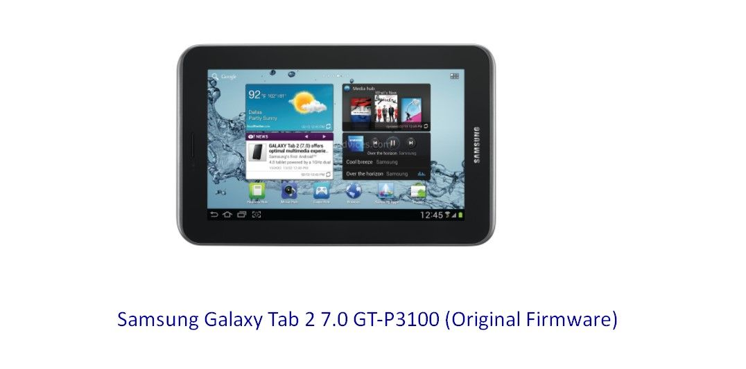 Samsung Galaxy Tab 2 7 0 GT-P3100 (Original Firmware) - Stock Rom