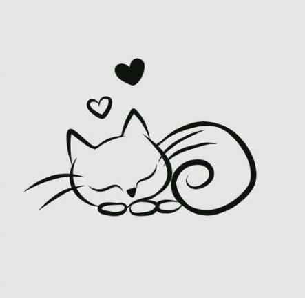 36+ ideas tattoo simple cat animals for 2019