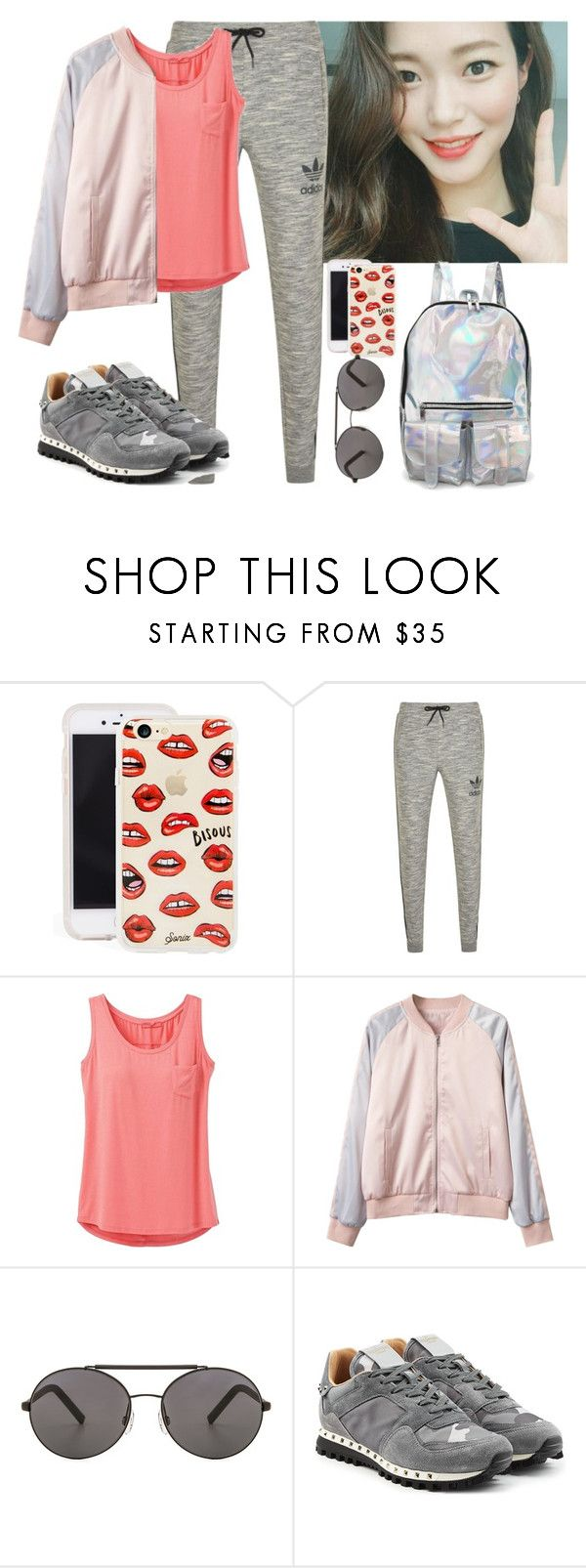 """""""2/27/17"""" by altheaklarize ❤ liked on Polyvore featuring Sonix, adidas Originals, prAna, Seafolly and Valentino"""
