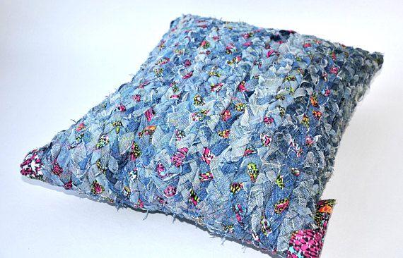 Denim Pillow Creative Decorative Pillow Handmade Braid In Идеи Interesting Washing Decorative Pillows