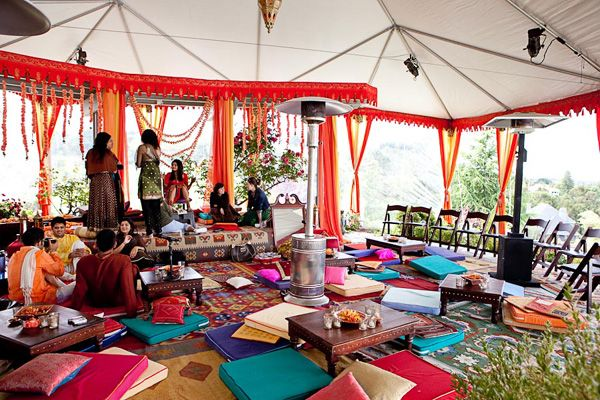 An Indian-Themed Rehearsal Dinner Idea from Maharani Weddings. Tent DecorationsTent WeddingWedding ... : indian wedding tent decorations pictures - memphite.com