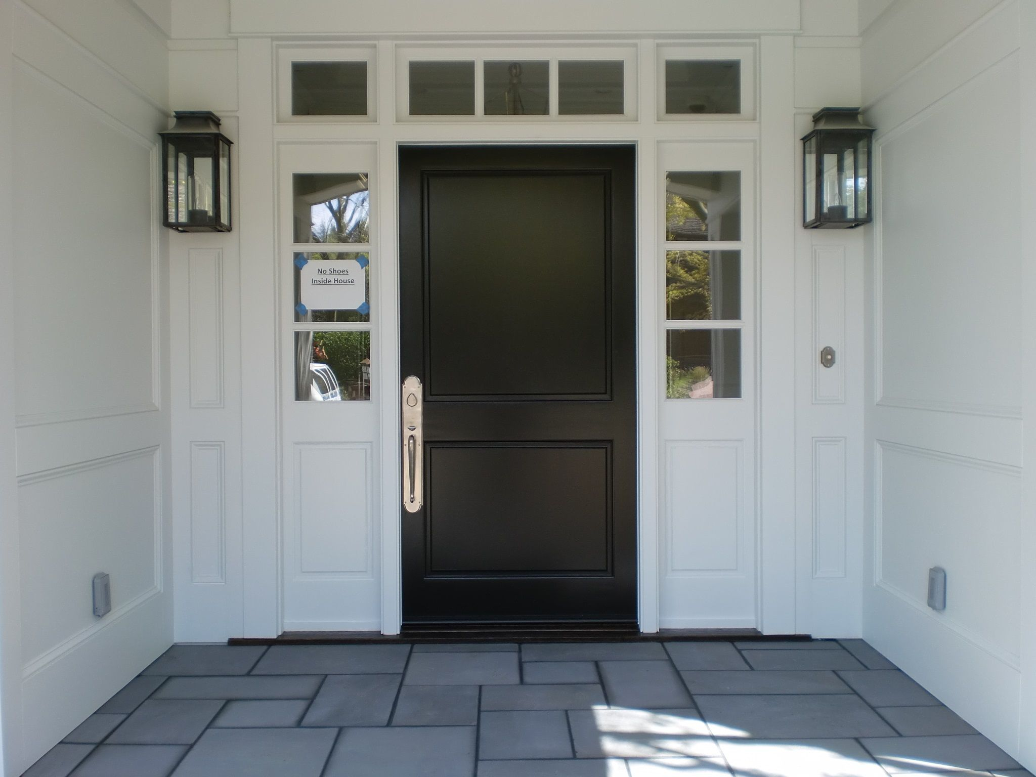 #AshleyNorton #White #Bronze Entry set, this makes a bold statement on a black door! #Decorate your #Door!!
