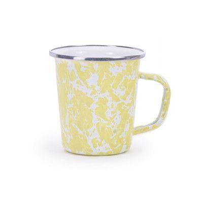 Golden Rabbit Spatter Latte Mug (Set of 6) Color: Butter Yellow