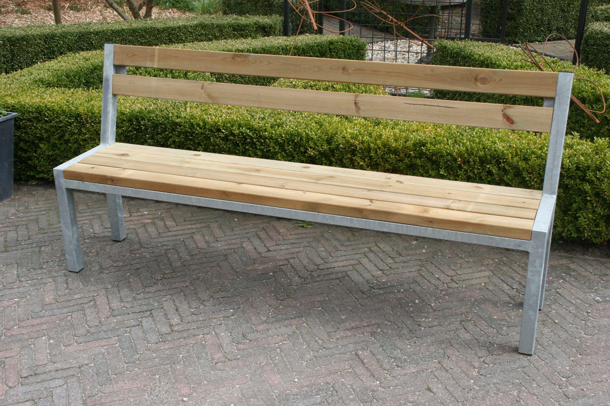 Tuinbank Modern met rugleuning   Van de Kamp Webwinkel   Garden   Pinterest   Gardens