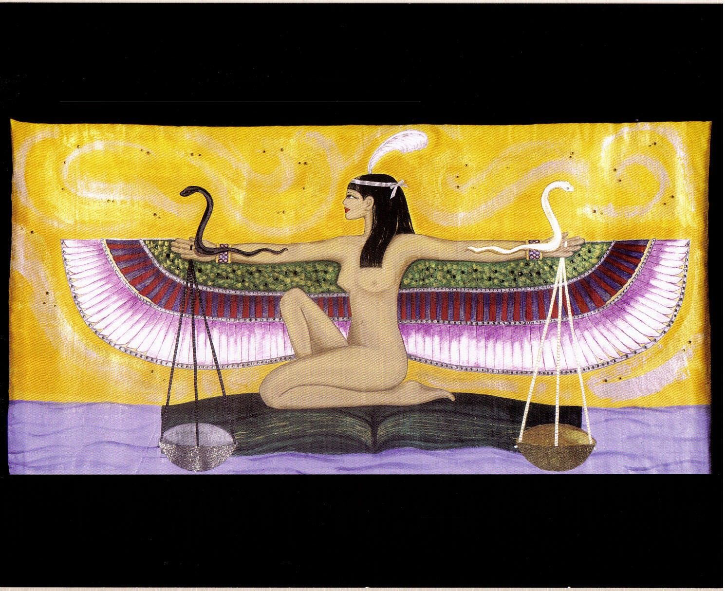 Goddess Maat Print Lithograph Print | Off The Wall | Pinterest ...