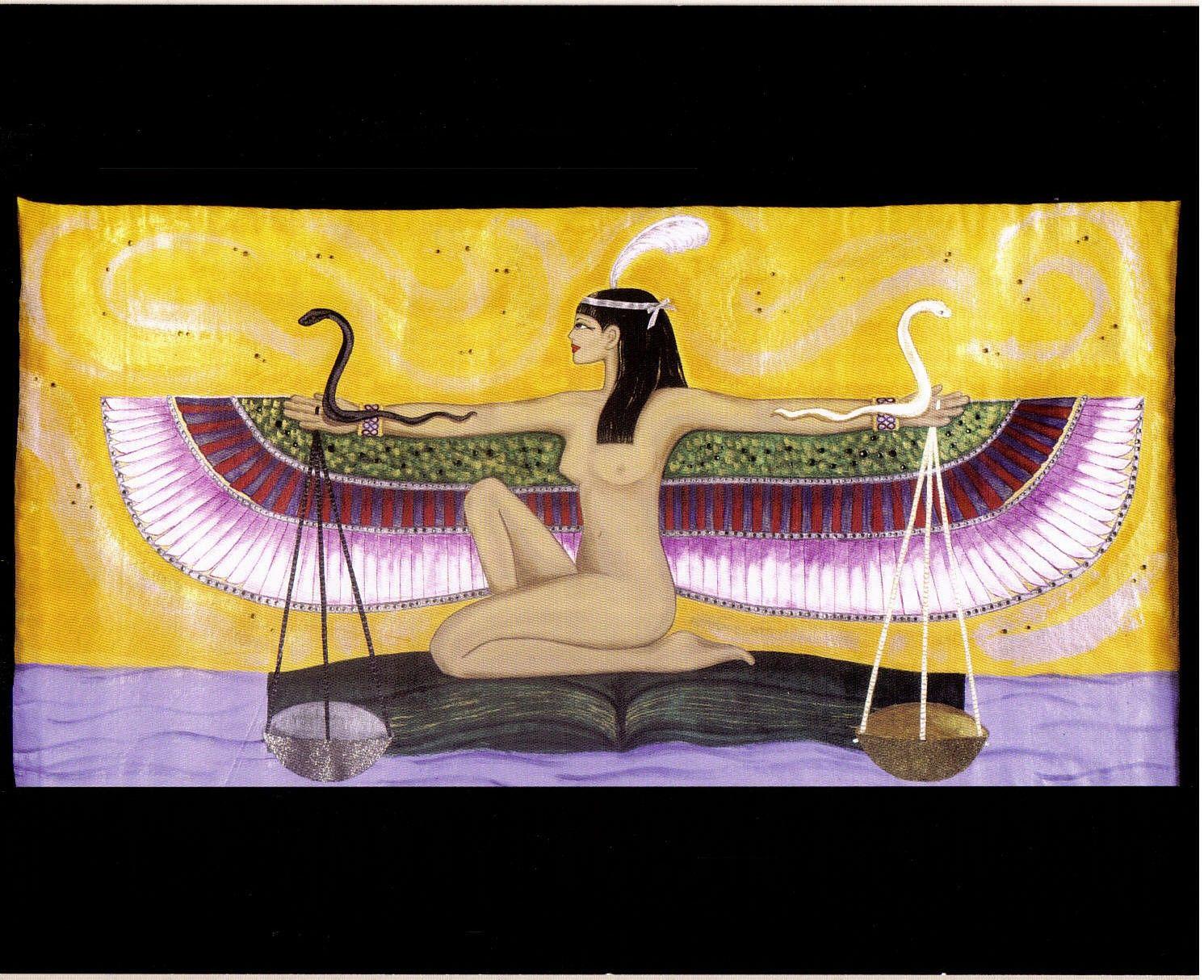 Goddess Maat Print Lithograph Print | Off The Wall | Pinterest ...
