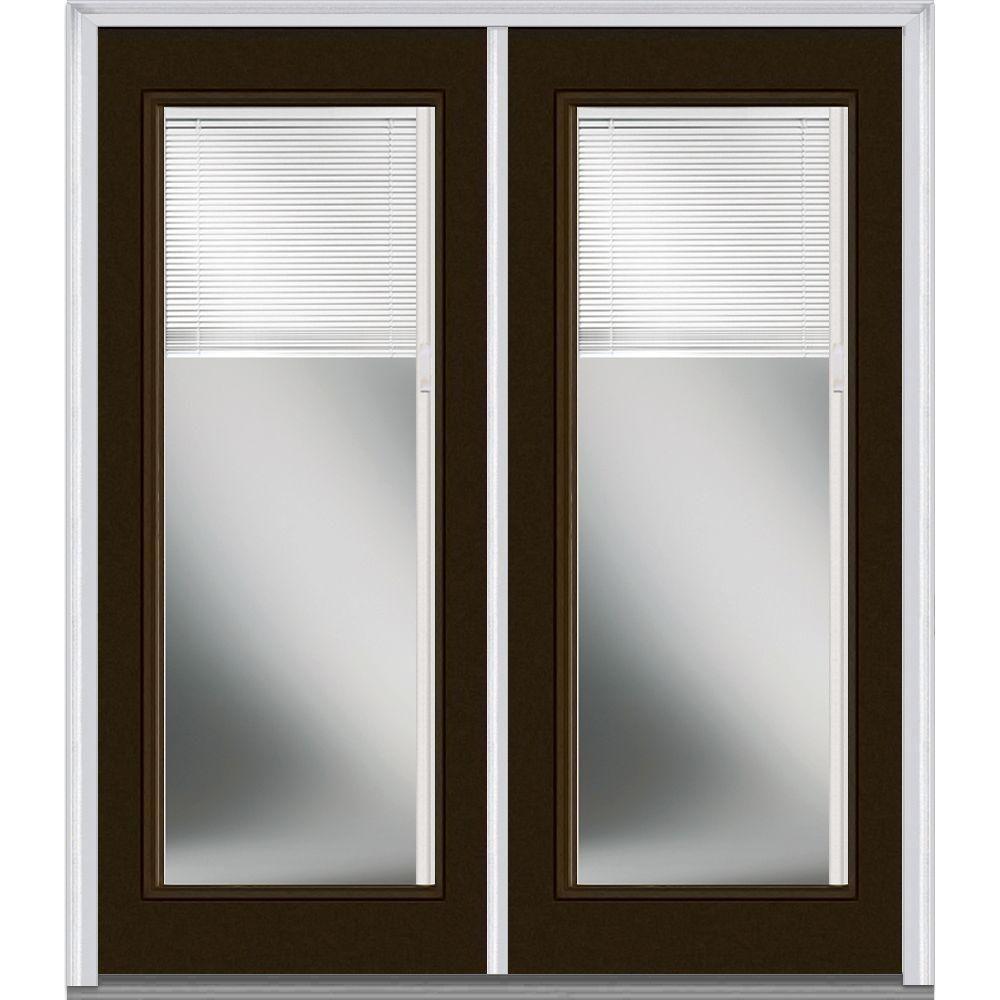 Mmi Door 72 In X 80 In Internal Blinds Right Hand Inswing Full