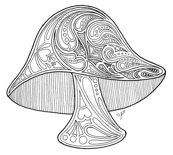 Mushroom | Coloring pages | Pinterest | Mandalas, Colorin y Dibujo