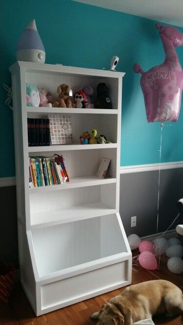 Homemade Bookshelf And Toybox With Images Homemade Bookshelves Bookshelves Diy Diy Toy Storage
