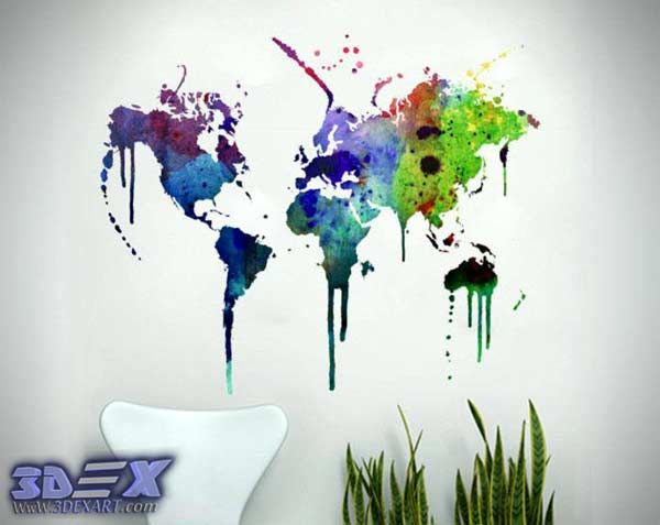 Art world map wall decor for interior design world map wallpaper do how to make world map decor and art for your interior design gumiabroncs Images