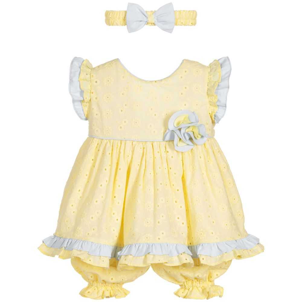 Baby Girls  Piece Yellow Dress Set  Yellow dress Dress set and