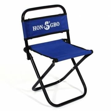 portable folding chair backrest fishing chair small blue folding