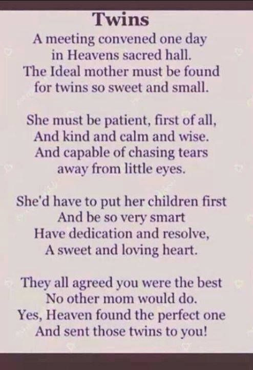 Quotes For Mommys With Twins Via The Twins Gift Company Facebook