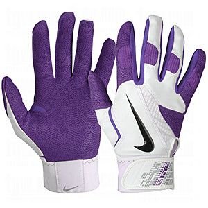 womens purple batting gloves