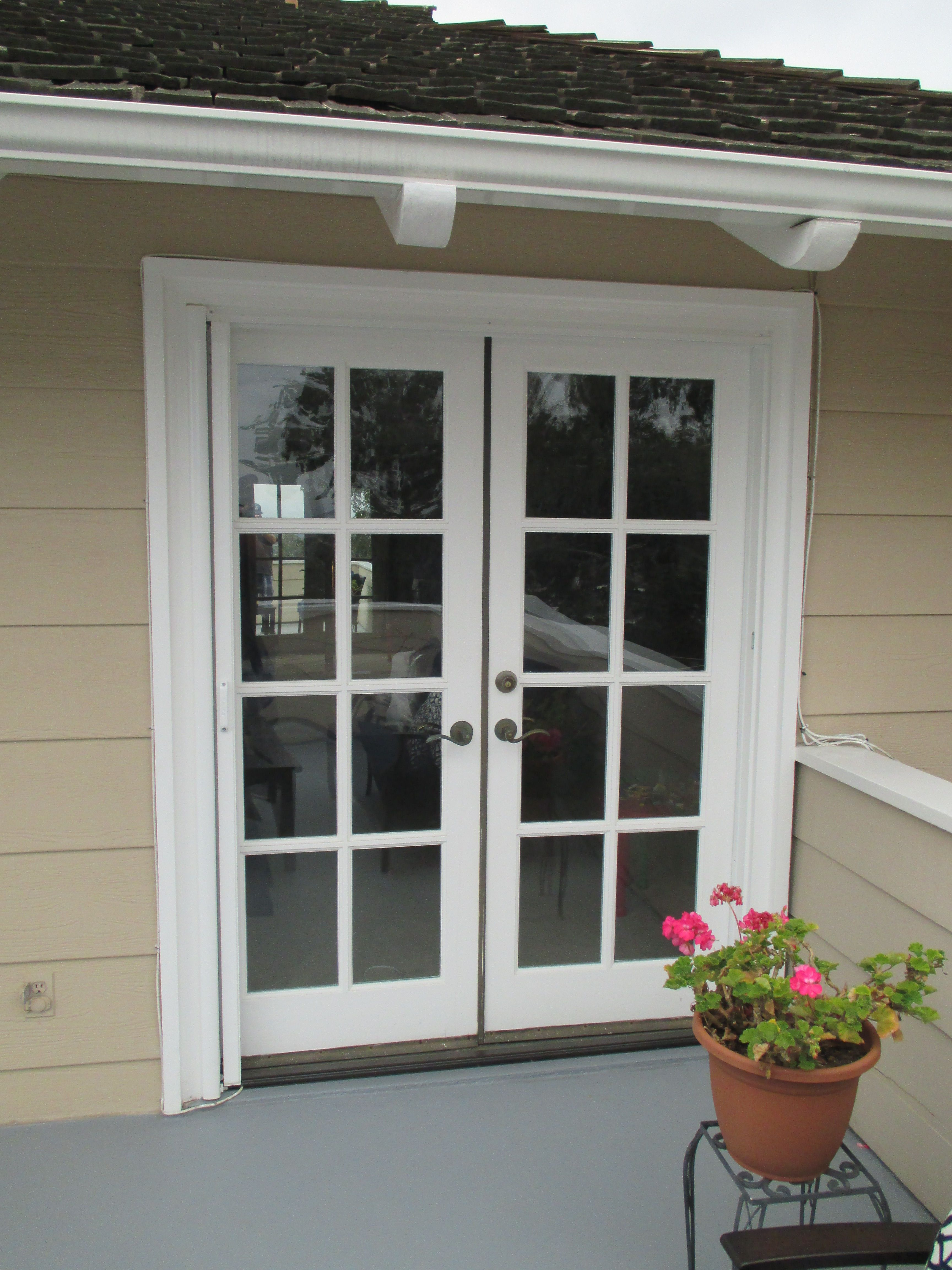 actual common white x odl pd door aluminum shop in screen retractable