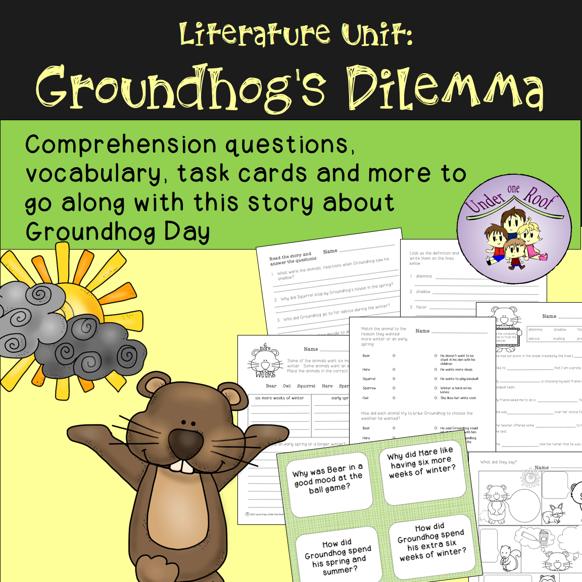 Groundhog S Dilemma A Literature Unit