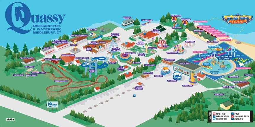 2017 Park Map Connecticut Fun Pinterest: Map Of Amusement Parks In Usa At Codeve.org