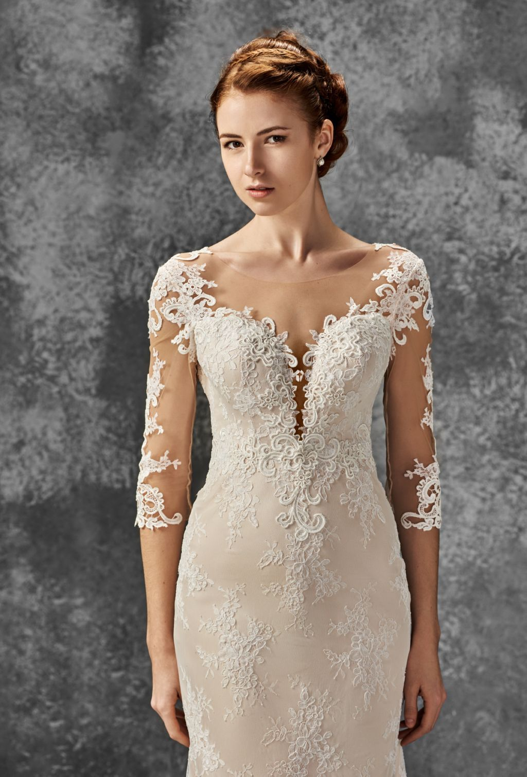 Boho wedding lace dress chic wedding dress ball gown wedding dress