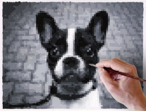 Makes Pixelated Image For You To Paint By Number Diy Art Diy Crafts To Do Diy Arts And Crafts