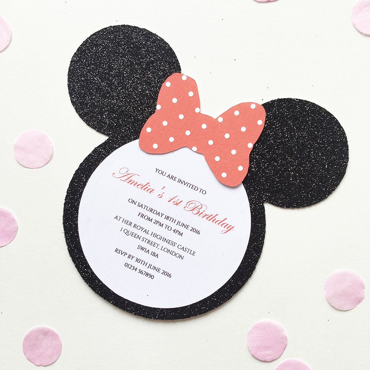 Minnie Mouse Invitations | miny | Pinterest | Minnie mouse, Mice and ...