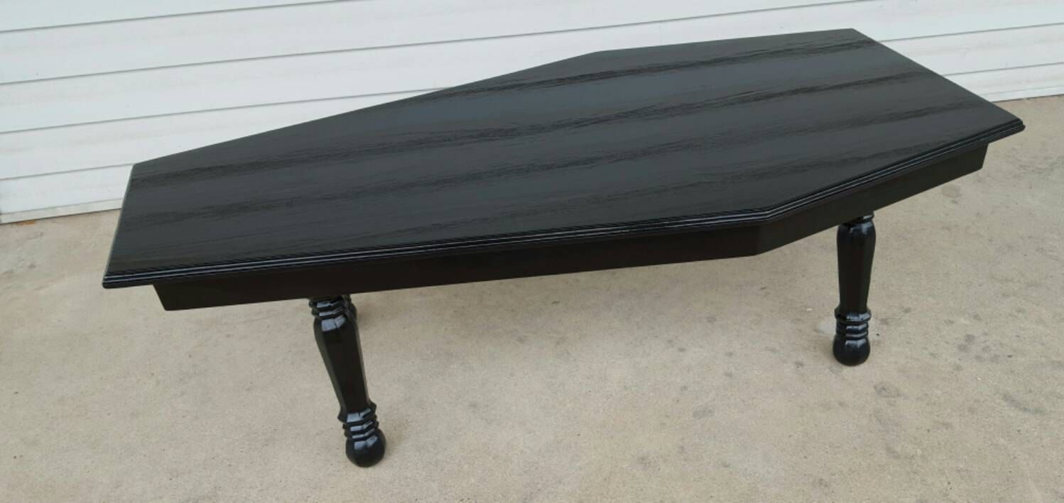 Coffin Shaped Coffee Table by FreakyFurnitureStore on Etsy Dream