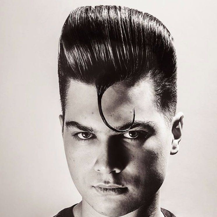 cool 80's style pompadour hairstyle  #menshairstyles #menshairstyleswag #menshair #menshaircuts #gen...
