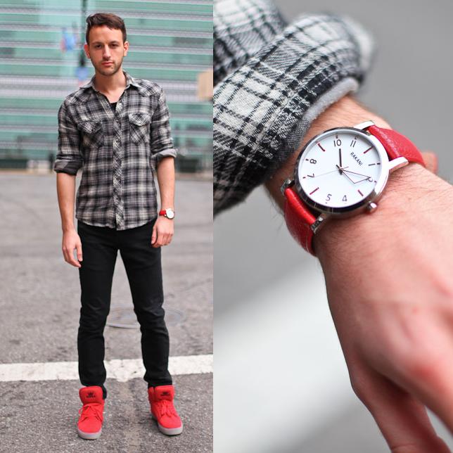 Red Shoes Red Watch Red Hot The Rakani 5 Watch With Red Leather Fashionably Late Style