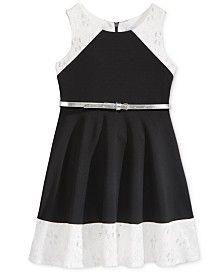 Sweet Heart Rose Lace Skater Dress, Little Girls (2-6X)