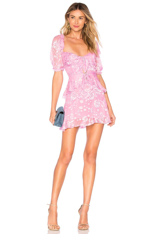 5e8797661d12 For Love   Lemons Cosmo Mini Dress in Lilac