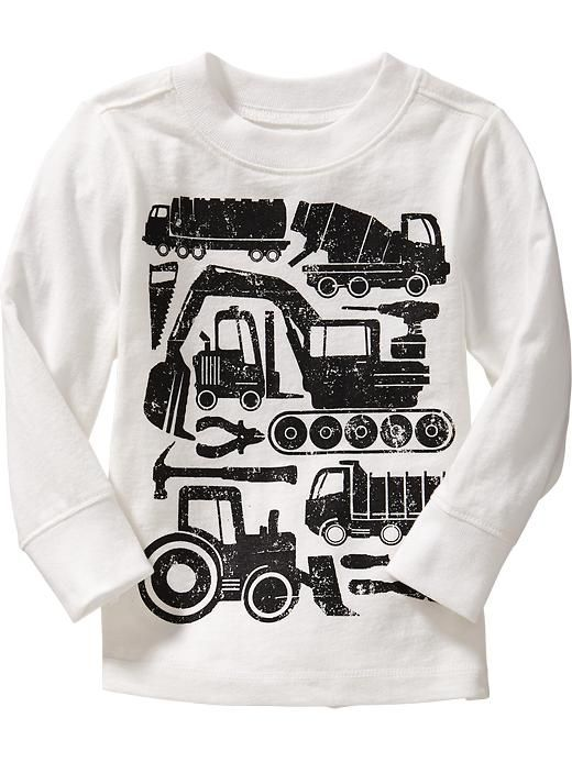 Construction-Equipment Tees for Baby Product Image