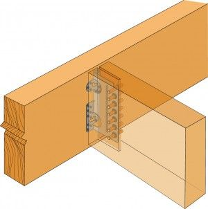 Wood to wood connection  - Concealed beam hangers | bridge
