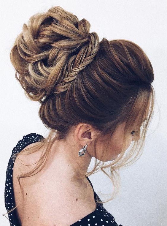 50 Cute Updos For Long Hair Women S High Bun Hairstyles Unique Wedding Hairstyles Elegant Wedding Hair