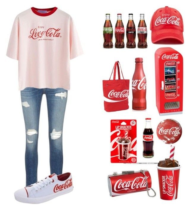 """""""Coca-Cola"""" by chaoticduck ❤ liked on Polyvore featuring rag & bone/JEAN, Forever 21 and Ashley M"""