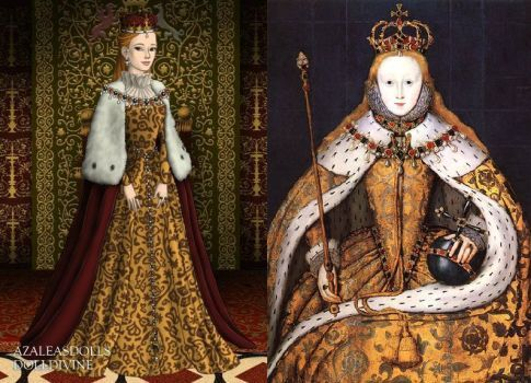 Retrato de la coronación de la reina Isabel I por LadyAquanine73551