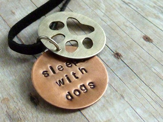Silver Wire Dog Stamped Disc