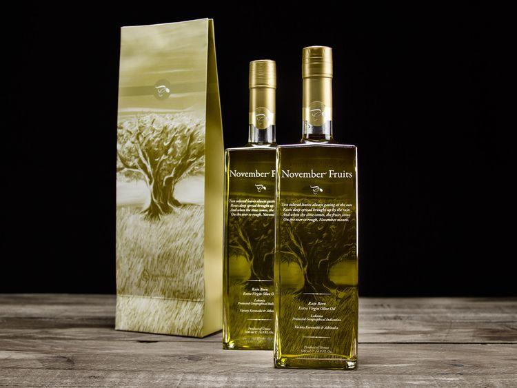 November Fruits Extra Virgin Olive Oil — The Dieline - Package Design Resource