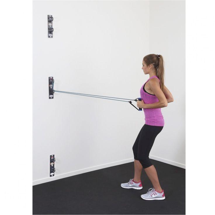 Anchor gym for resistance bands garage pinterest