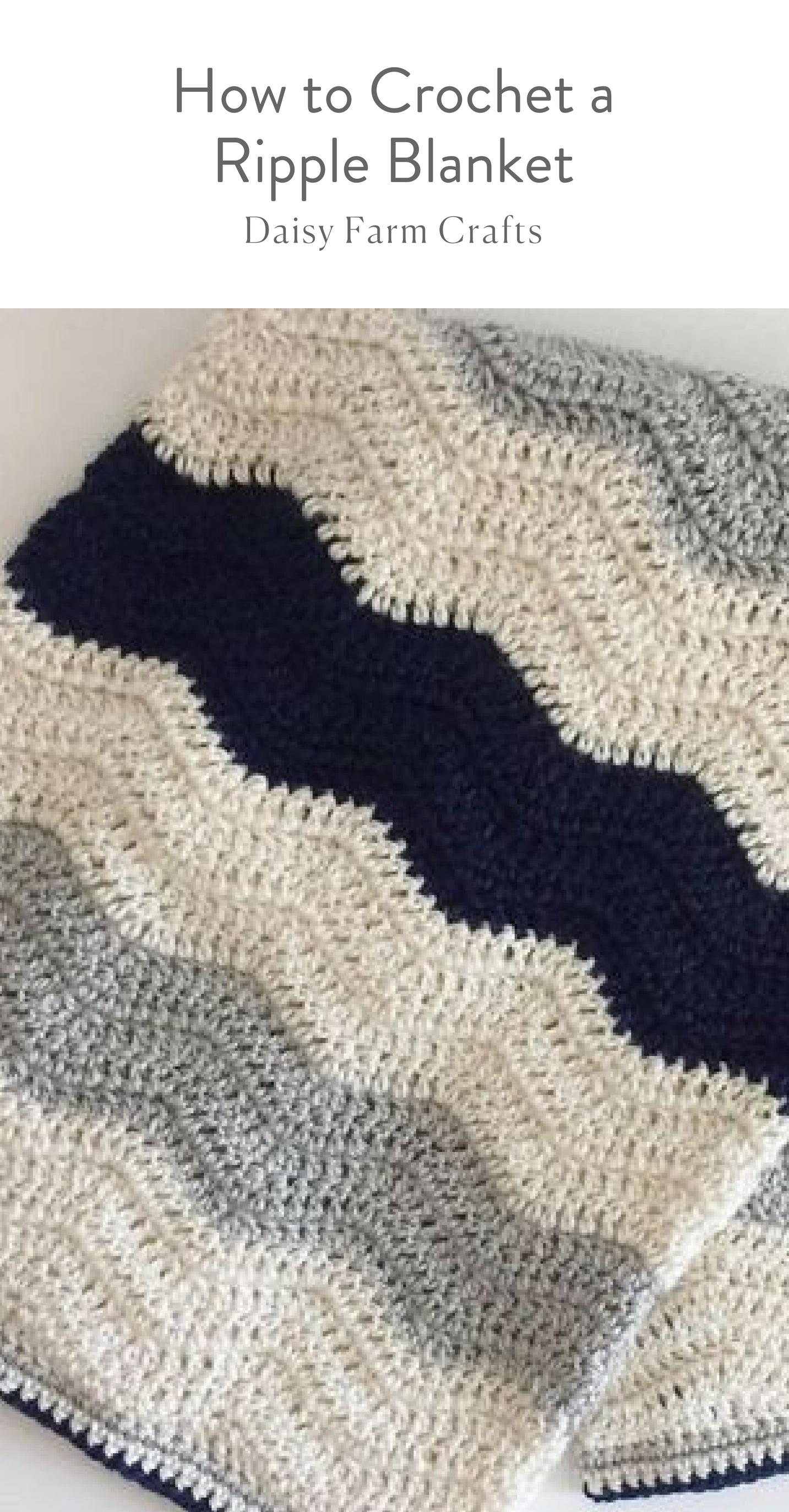How to Crochet a Ripple Blanket | mantas muevas | Pinterest | Manta ...
