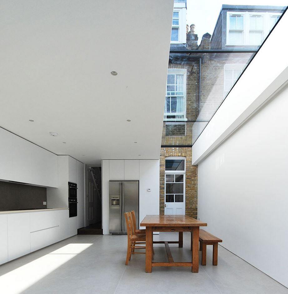 Best Modern Kitchen W Skylight Clever Integration With Older 640 x 480