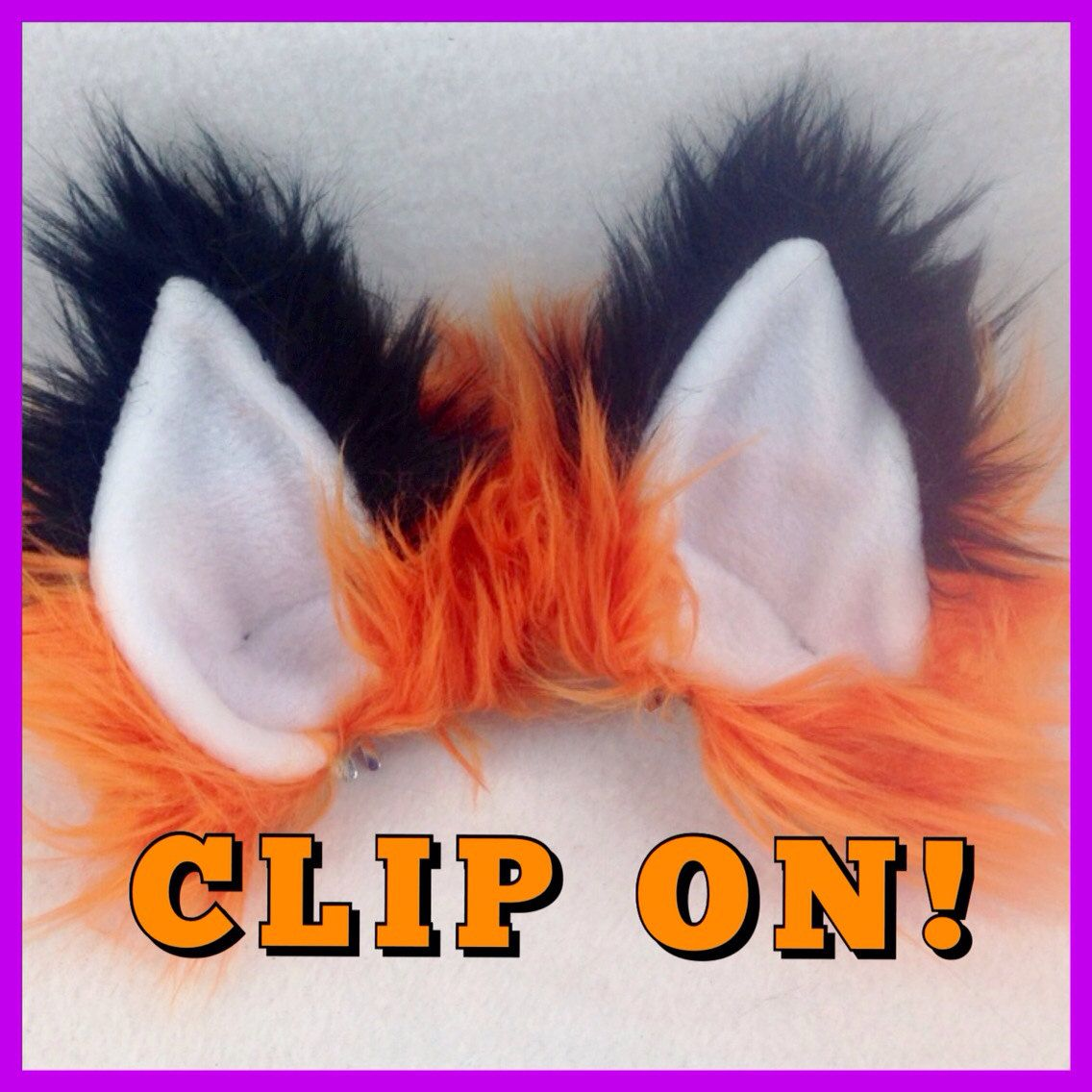 CLIP ON FOX Ears Yopu Pick Color Costume Cosplay Anime By